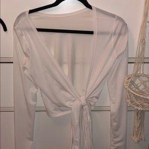 Lululemon - it's a tie long sleeve